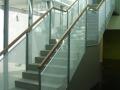 balustrady aluminiowo-szklane  z poręczną - wrocław, dolnośląskie
