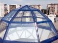 świetlik aluminiowo szklany