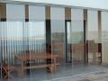 przesuwna  ściana szklana